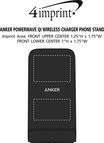Imprint Area of Anker PowerWave Qi Wireless Charger Phone Stand