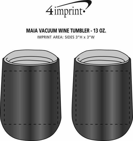 Imprint Area of Maia Vacuum Wine Tumbler - 13 oz. - Laser Engraved