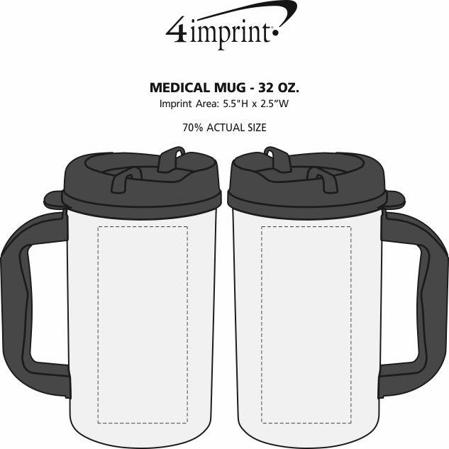 Imprint Area of Medical Mug - 32 oz.