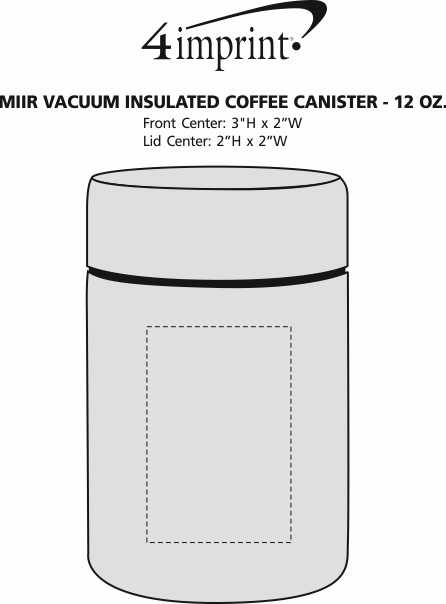 Imprint Area of MiiR Vacuum Insulated Coffee Canister - 12 oz.