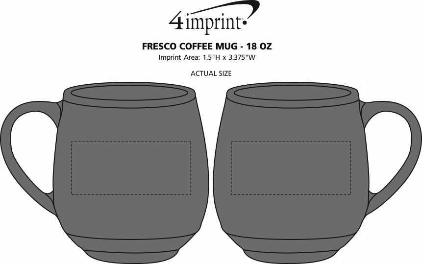 Imprint Area of Fresco Coffee Mug - 18 oz.
