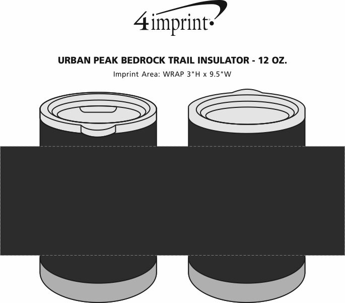 Imprint Area of Urban Peak Bedrock Trail Insulator - 12 oz.