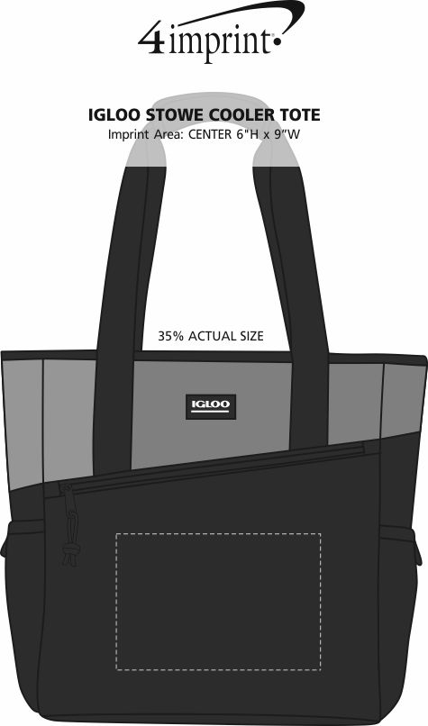 Imprint Area of Igloo Stowe Cooler Tote