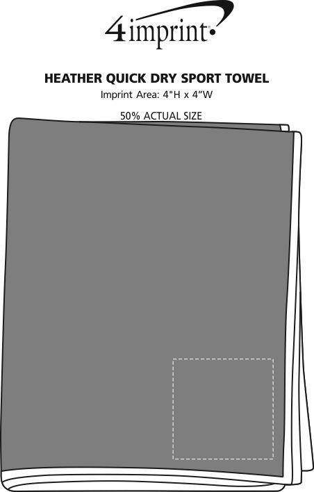 Imprint Area of Heather Quick Dry Sport Towel