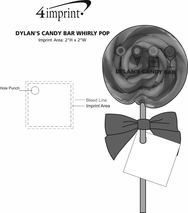 Imprint Area of Dylan's Candy Bar Whirly Pop