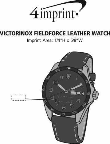 Imprint Area of Victorinox Fieldforce Leather Watch