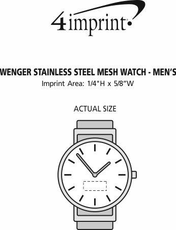 Imprint Area of Wenger Stainless Steel Mesh Watch - Men's