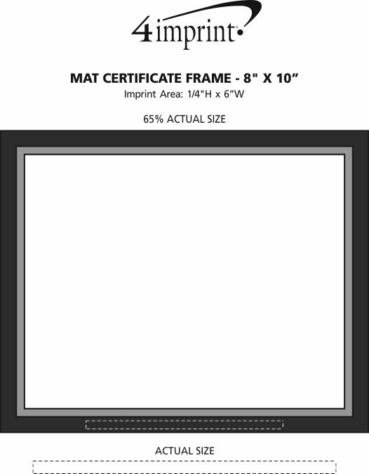 "Imprint Area of Mat Certificate Frame - 8"" x 10"""