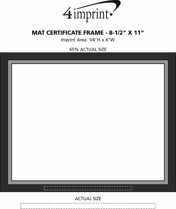 "Imprint Area of Mat Certificate Frame - 8-1/2"" x 11"""