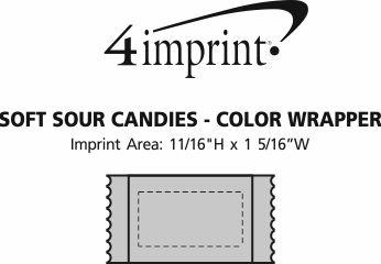 Imprint Area of Soft Sour Candies - Color Wrapper
