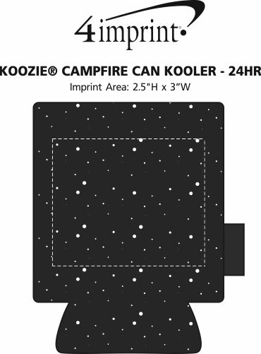 Imprint Area of Koozie® Campfire Can Kooler - 24 hr