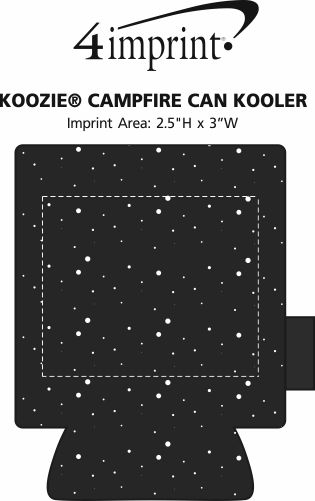 Imprint Area of Koozie® Campfire Can Kooler