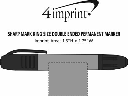 Imprint Area of Sharp Mark King Size Double Ended Permanent Marker