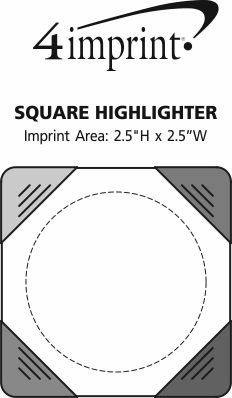 Imprint Area of Square Highlighter