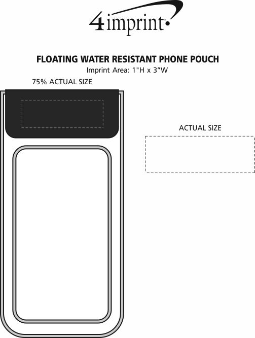 Imprint Area of Floating Water Resistant Phone Pouch