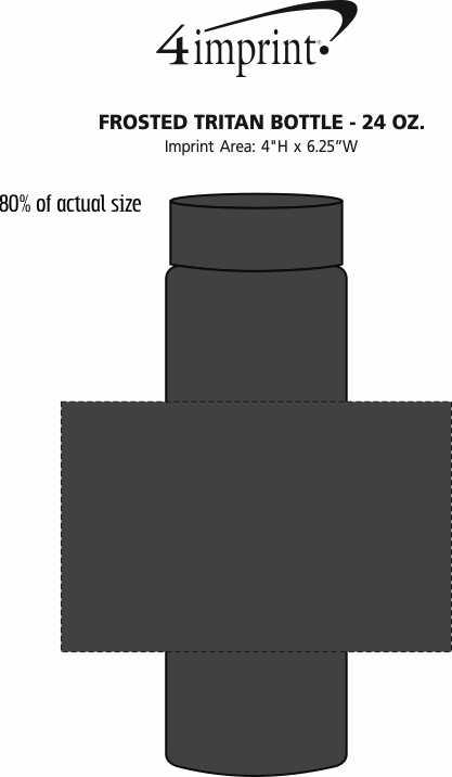 Imprint Area of Frosted Tritan Bottle - 24 oz.