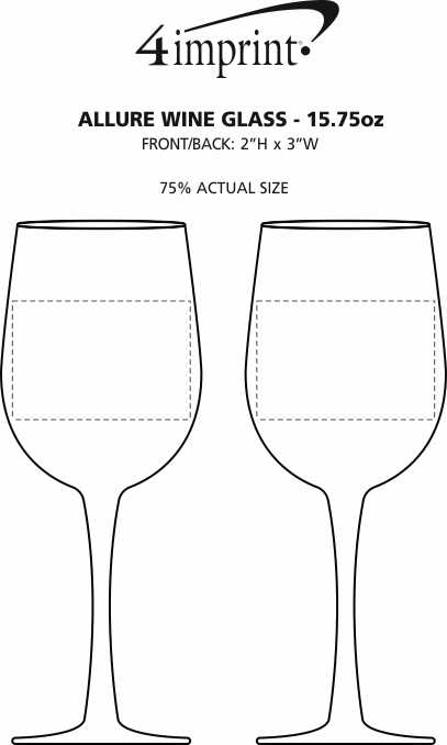 Imprint Area of Allure Wine Glass - 15.75 oz.