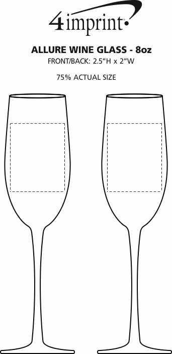Imprint Area of Allure Wine Glass - 8 oz.
