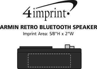 Imprint Area of Armin Retro Bluetooth Speaker