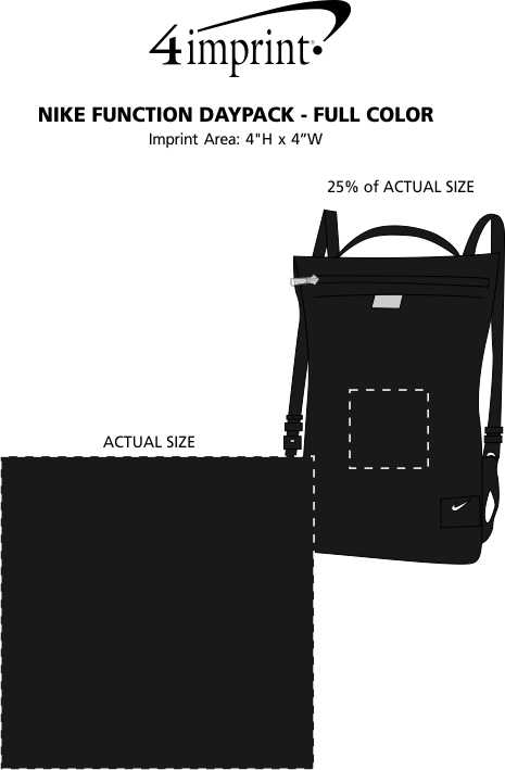 Imprint Area of Nike Function Daypack - Full Color