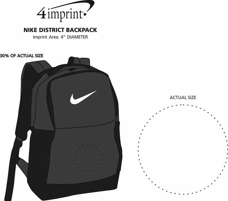 Imprint Area of Nike District Backpack
