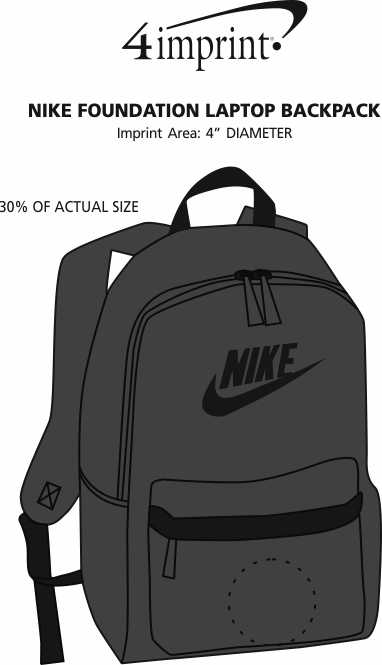 Imprint Area of Nike Foundation Laptop Backpack