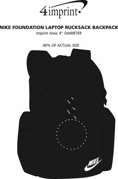 Imprint Area of Nike Foundation Laptop Rucksack Backpack