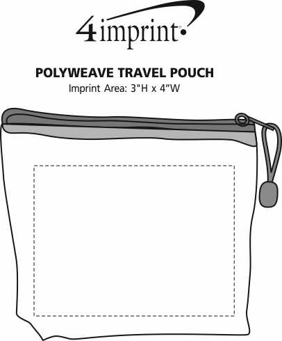 Imprint Area of PolyWeave Travel Pouch