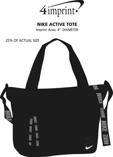 Imprint Area of Nike Active Tote