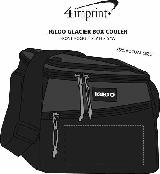 Imprint Area of Igloo Glacier Box Cooler