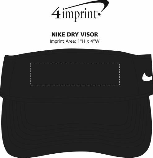 Imprint Area of Nike Dry Visor