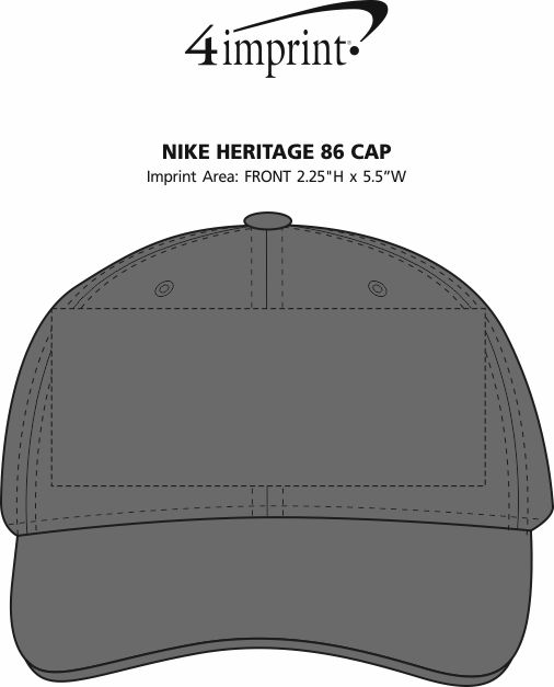 Imprint Area of Nike Heritage 86 Cap