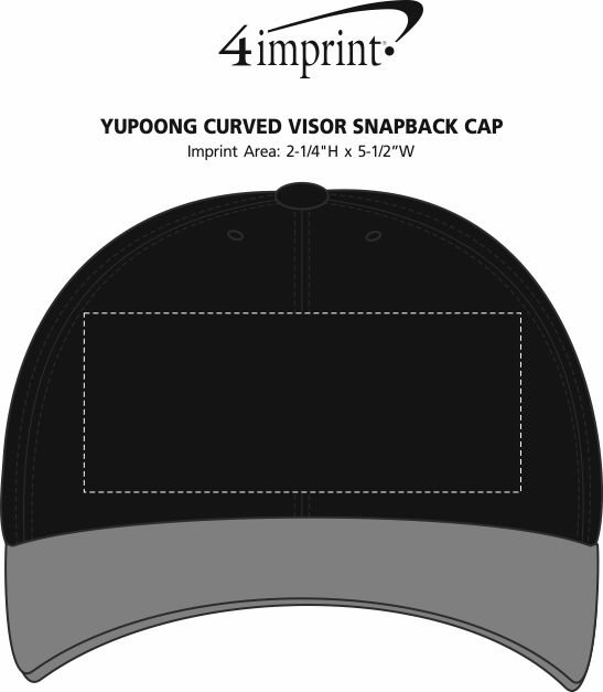 Imprint Area of Yupoong Curved Visor Snapback Cap