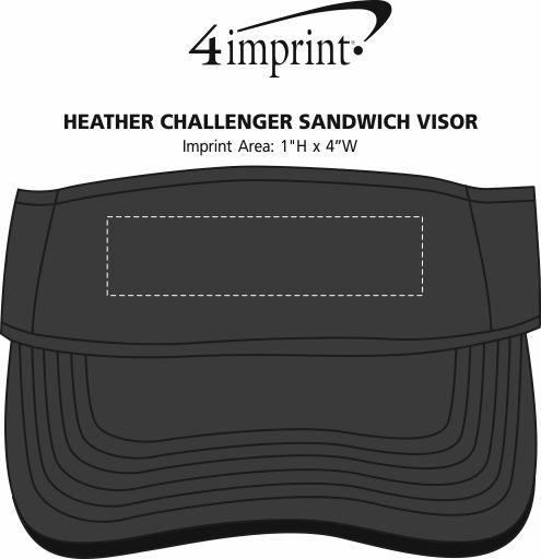 Imprint Area of Heather Challenger Sandwich Visor