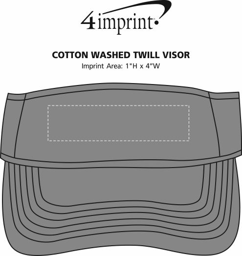 Imprint Area of Cotton Washed Twill Visor