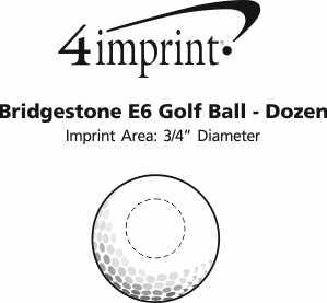 Imprint Area of Bridgestone E6 Golf Ball - Dozen