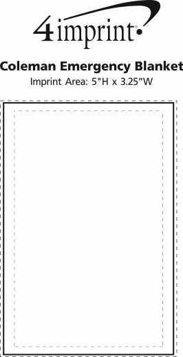 Imprint Area of Coleman Emergency Blanket