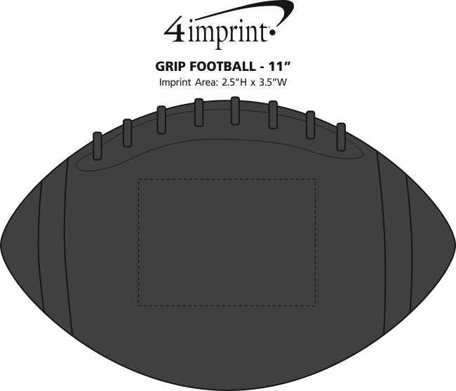 "Imprint Area of Grip Football - 11"""