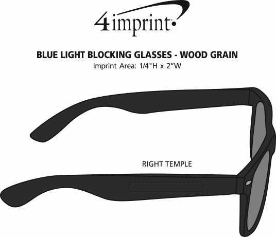 Imprint Area of Blue Light Blocking Glasses - Wood Grain