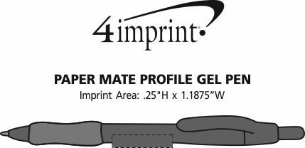 Imprint Area of Paper Mate Profile Gel Pen