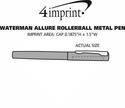 Imprint Area of Waterman Allure Rollerball Metal Pen