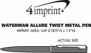 Imprint Area of Waterman Allure Twist Metal Pen