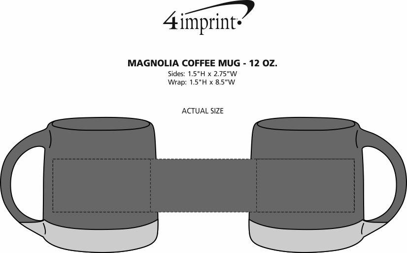 Imprint Area of Magnolia Coffee Mug - 12 oz.