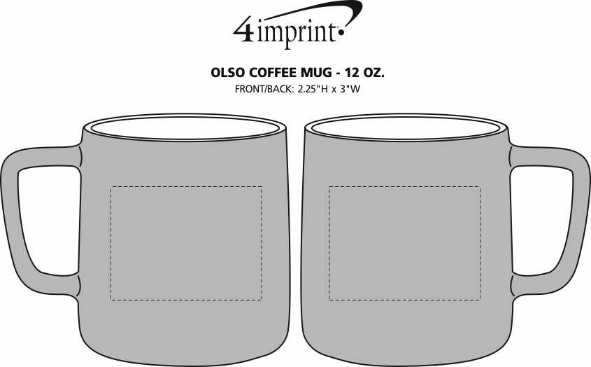Imprint Area of Oslo Coffee Mug - 12 oz.