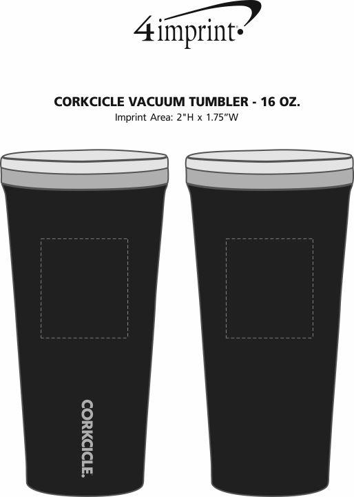 Imprint Area of Corkcicle Vacuum Tumbler - 16 oz.