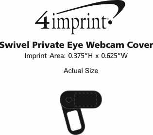 Imprint Area of Swivel Private Eye Webcam Cover