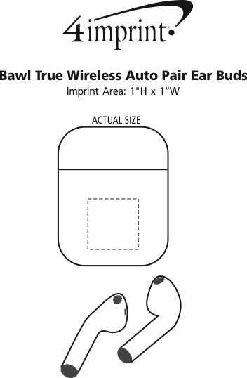 Imprint Area of Bawl True Wireless Auto Pair Ear Buds