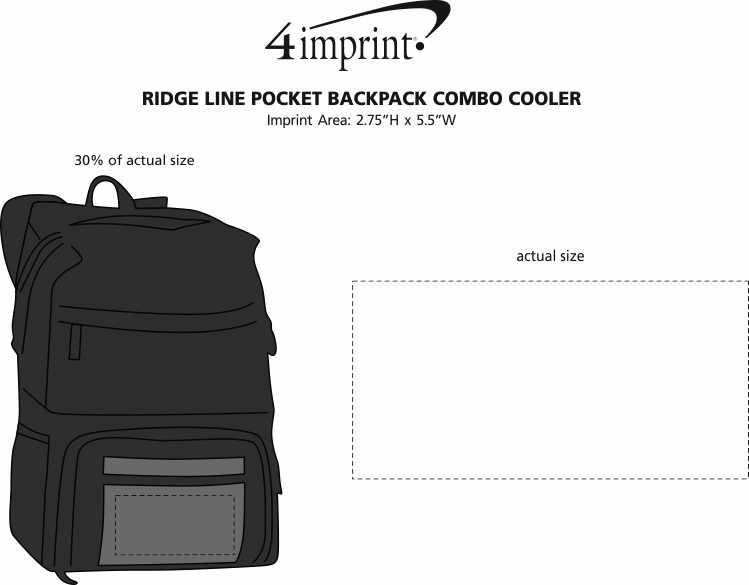 Imprint Area of Ridge Line Pocket Backpack Combo Cooler