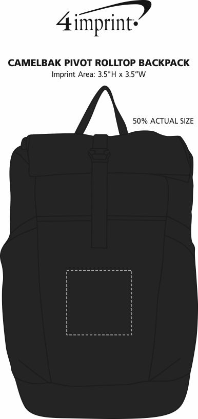 Imprint Area of CamelBak Pivot RollTop Backpack