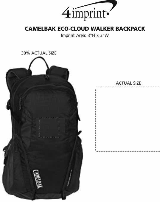 Imprint Area of CamelBak Eco-Cloud Walker Backpack